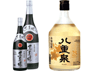 Awamori Kuroshinju(43 proof) / Awamori Yaesen Gold(25 proof)