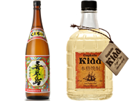Kokuto (brown sugar) shochu Kikaijima(25 proof 1800ml) / Kokuto (brown sugar) shochu Captain Kid(43 proof 720ml) (Long-term storage)